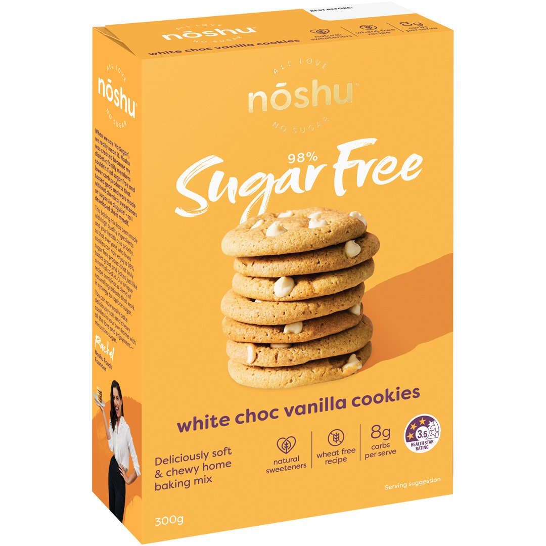 98% Sugar Free<br>White Choc Vanilla Cookie Mix