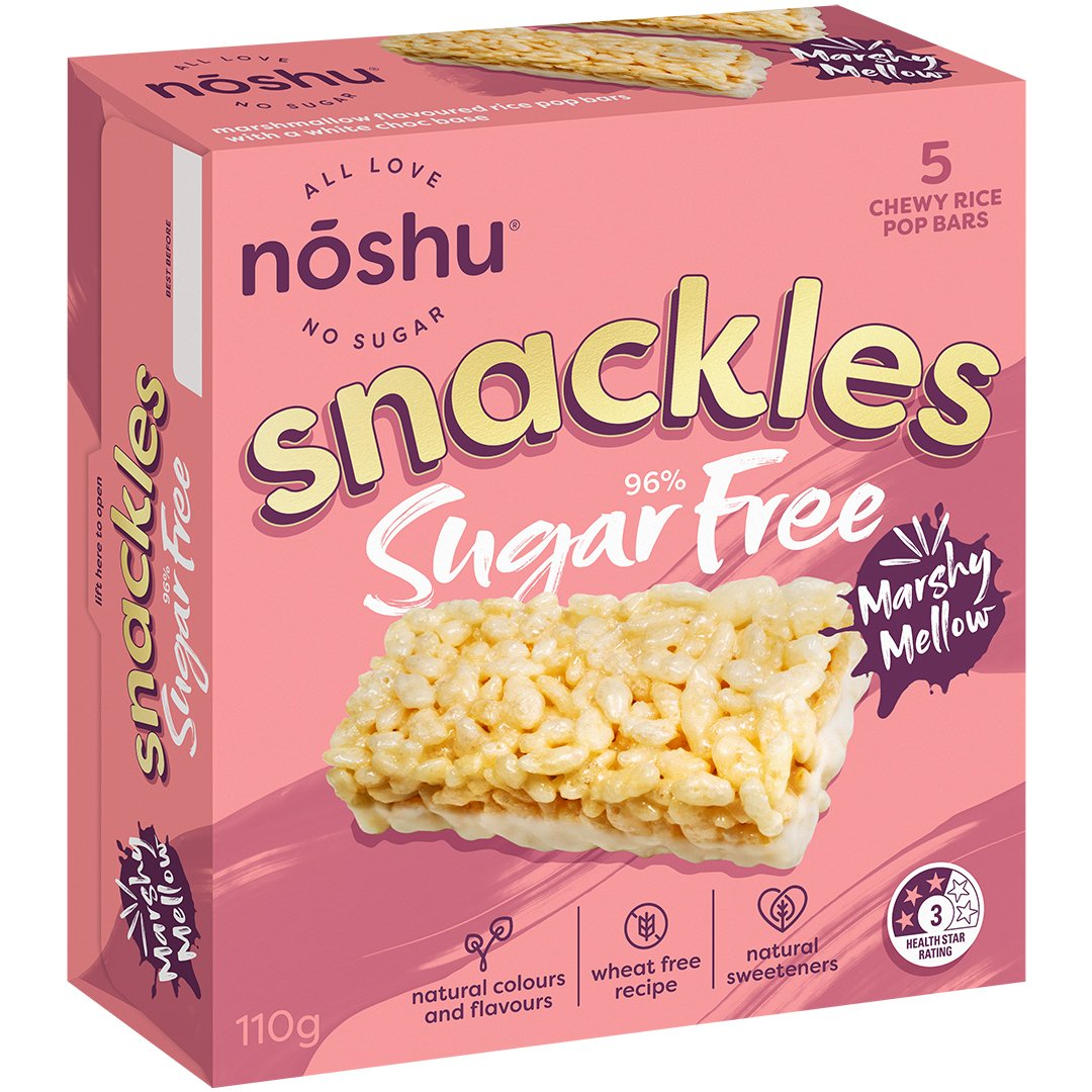 marshy mellow <br> snackles bars